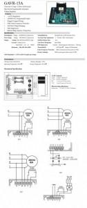 AVR Generator model 15 Amperi