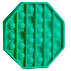Jucarie Senzoriala Antistres Pop It Now Push Bubble Octagon Verde