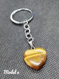 Breloc Inima de piatra quartz accesorii chei 2020 pentru cupluri partener cadou