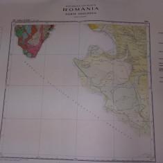 Plansa/harta geologica a republicii socialiste romania,TURNU SEVERIN 1966,T.GRAT