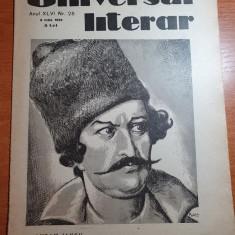 universul literar 6 iulie 1930-articol avram iancu,interviu ionel teodoreanu