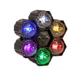 Cumpara ieftin Proiector de lumini LED Running Light, 6 Led-uri, multicolor