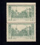ROMANIA 1938 - CENTENARUL NASTERII REGELUI CAROL EROARE ABKLATSCH PERECHE MNH, Nestampilat