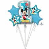 Buchet Baloane Mickey Mouse 1st birthday, Amscan 34341 set 5 bucati
