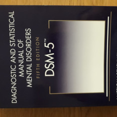 DSM 5 - Diagnostic and statistical manual of mental disorders