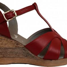 Sandale dama cu talpa ortopedica Ninna Art 119 rosu