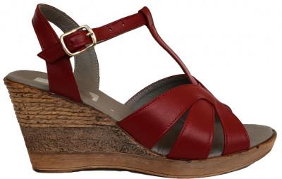 Sandale dama cu talpa ortopedica Ninna Art 119 rosu foto