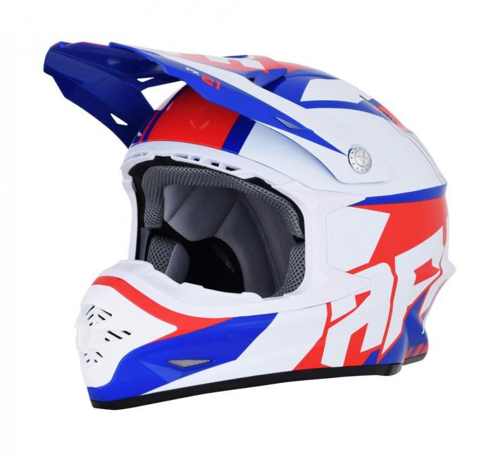 Casca Cross/ATV AFX FX-21 Pinned culoare rosu/alb/albastru marime M Cod Produs: MX_NEW 01105321PE