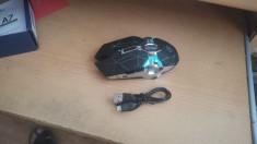 Mouse Wireless Reincarcabil cu Led 7 Culori Bentober A7 1600 DPI #3-386 foto