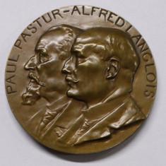 MEDALIE PAUL PASTUR - ALFRED LANGLOIS