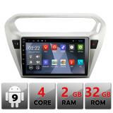 Navigatie dedicata Peugeot 301 Citroen C-Elisee B-301 cu Android Internet Bluetooth Radio GPS WIFI 2+32GB CarStore Technology