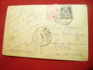 Ilustrata Petrosani - Vedere generala circulat 1928 Libraria Jiul Cultural