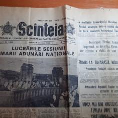 Scanteia 18 octombrie 1980-lucrarile sesiunii marii adunari nationale