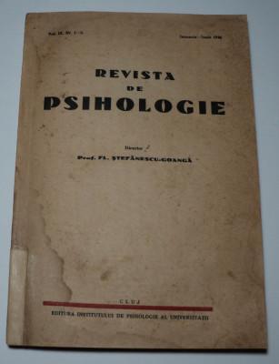 Revista de psihologie teoretica si aplicata, 1946, director Stefanescu Goanga foto