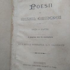 Poesii, Mihai Eminescu, anul  1895