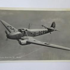 Cumpara ieftin Carte postala/fotografie originala avion german antrenament:Focke-Wulf Fw 58