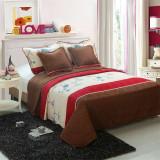 Cuvertura de pat + 4 Fete de Perna - Pat 2 Persoane - 100% Bumbac - CP5-03