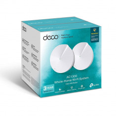 Sistem wireless Mesh Dual Band AC1300, Pack of 2, TP-Link Deco M5