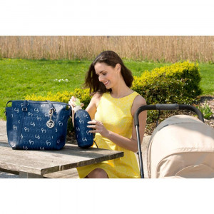 Geanta multifunctionala Hannah Navy Clevamama for Your BabyKids