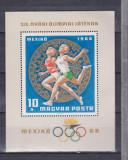 Ungaria 1968 Olimpiada MEXICO 1968, colita  MNH