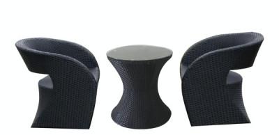 Set mobilier terasa, bar BRASIL masa rotunda cu 2 fotolii din ratan Raki foto