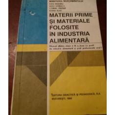 MATERII PRIME SI MATERIALE FOLOSITE IN INDUSTRIA ALIMENTARA