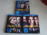 HOMELAND Sezonul 1, 2 si 3 - 9 CD-uri in format Blu-ray - ca NOI, BLU RAY, Engleza