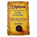 Magnet Diploma pentru Cel mai bun PROFESOR din lume, lemn, Alexer