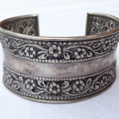 BRATARA argint FRANTA art nouveau 1900 reglabila EXCEPTIONALA lata MASIVA unicat