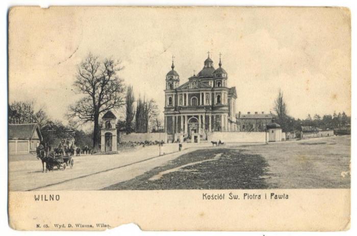 AD 1046 C. P. VECHE - WILNO- KOSCIOL SW. PIOTRA I PAWLA -VILNIUS -LITUANIA -1907