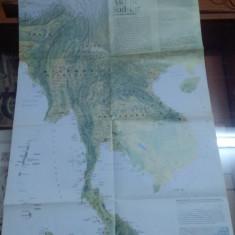 Hartă Asia de Sud-Est + Imperiul Khmer