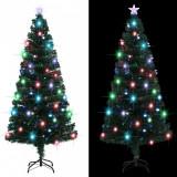 Brad de Crăciun artificial cu suport/LED, 180 cm, 220 ramuri, vidaXL