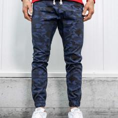 Pantaloni joggers bărbați camuflaj-bleumarin Bolf 0367