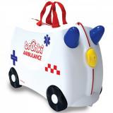 Valiza pentru copii Trunki Abbie Ride-On, Ambulanta