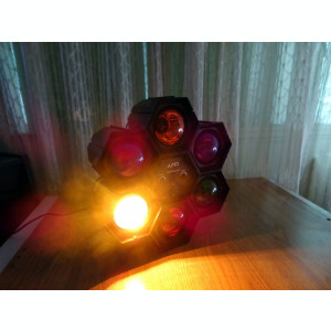 DISCO LIGHT Joc de lumini dinamice pt. discoteca,  6 becuri mari x 40W, nou