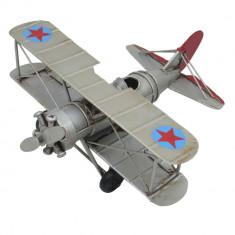 Macheta avion retro metal 16*16*7 cm
