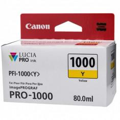 Cartus cerneala Canon PFI-1000Y , yellow