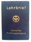 Diploma cerificat carnet atestat calificare vechi veche meserie vintage Germania
