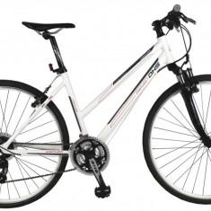 Bicicleta Dama Dhs Contura 2866 495mm. Alb Rosu 28