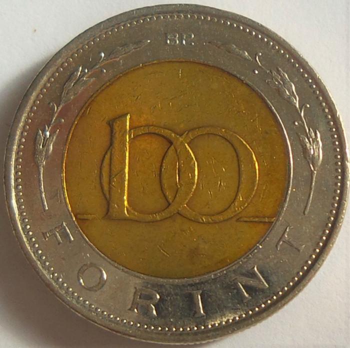 Moneda bimetal 100 FORINTI - UNGARIA, anul 1997 *cod 2313 B