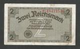 GERMANIA  NAZISTA 2 MARCI REICHSMARK  1940 [8] P- 137b , 8 cifre , Litera F , VF