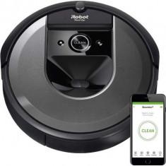 Aspirator robot iRobot Roomba i7, Wi-Fi, Navigatie iAdapt 3.0, AeroForce, Detectare acustica si optica (Negru)