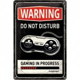 Placa metalica - Gaming in Progress - 20x30 cm