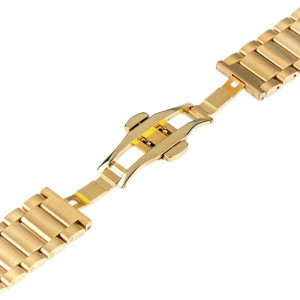 Curea ceas Smartwatch Samsung Gear S3, iUni 22 mm Otel Inoxidabil, Gold