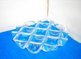 Cumpara ieftin Platou cristal suport pastile/ lumanari suflat manual in mulaj - Muurla Finland