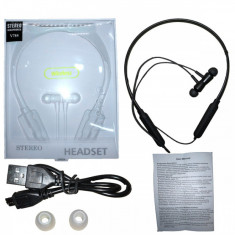 Casti tip Sport cu Microfon Incorporat si magnet, Bluetooth 4.2, V784