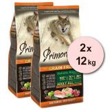 Cumpara ieftin Primordial GF Adult Chicken & Salmon 2 x 12 kg