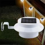 Lampa de exterior cu alimentare solara si 3 LED-uri, de montat pe ziduri, in gradina, pe garduri