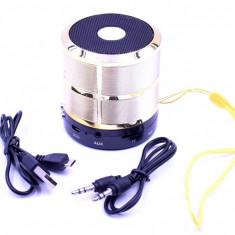 Mini Boxa WS-887 , difuzor portabil cu bluetooth, mp3, radio, microfon,GOLD