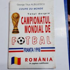 carte    Campionatul  Mondial de fotbal  -  Franta  1998
